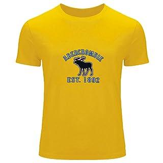 AF Abercrombie Fitch - camiseta con impreso de la marca, para hombres