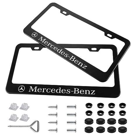 Screw Cap 1x 4 RING LOGO 3D Emblem STAINLESS STEEL License Plate Frame