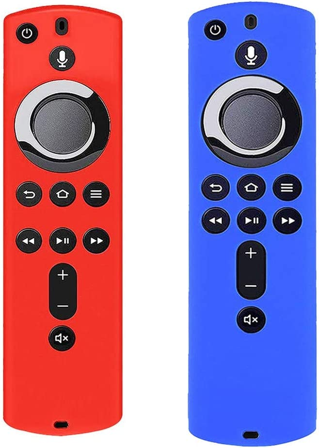 Anti Slip Shock Proof Transser 2 Pack Silicone Protective Case Compatible with  Fire TV Stick 4K Remote