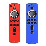 Ackful2PC for Amazon Fire TV Stick 4K TV Stick Remote Silicone Case Protective Cover Skin (C)