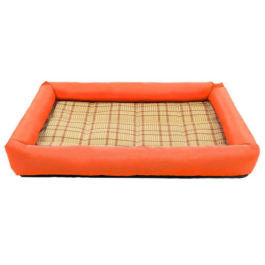 orange L orange L GHMM Pet bed quality PP cotton oxford waterproof non-slip soft comfortable cool breathable easy to wash Pet bed (color   orange, Size   L)