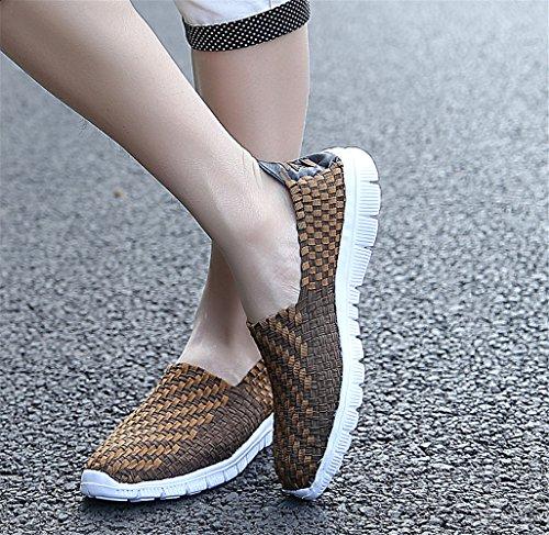 DC Légères Beach Shoes La 903 Filles Chaussure Mode des Occasionnels Femmes pour Les Respirantes Brown01 HdqBaf