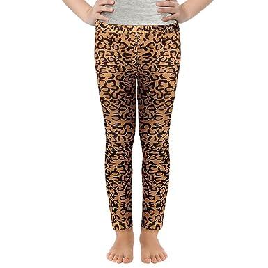 09cb6af69e664f Girls Digital Prints Leggings Owl Mermaid Colored Basic Pants for 3-11Y ( Leopard,