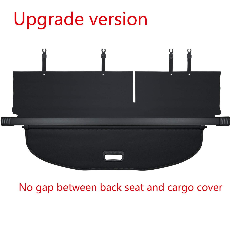 【Upgrade Version】E-cowlboy Black Retractable Rear Trunk Cargo Luggage Security Shade Cover Shield for Ford Escape 2013 2014 2015 2016 2017 2018 AI-15003