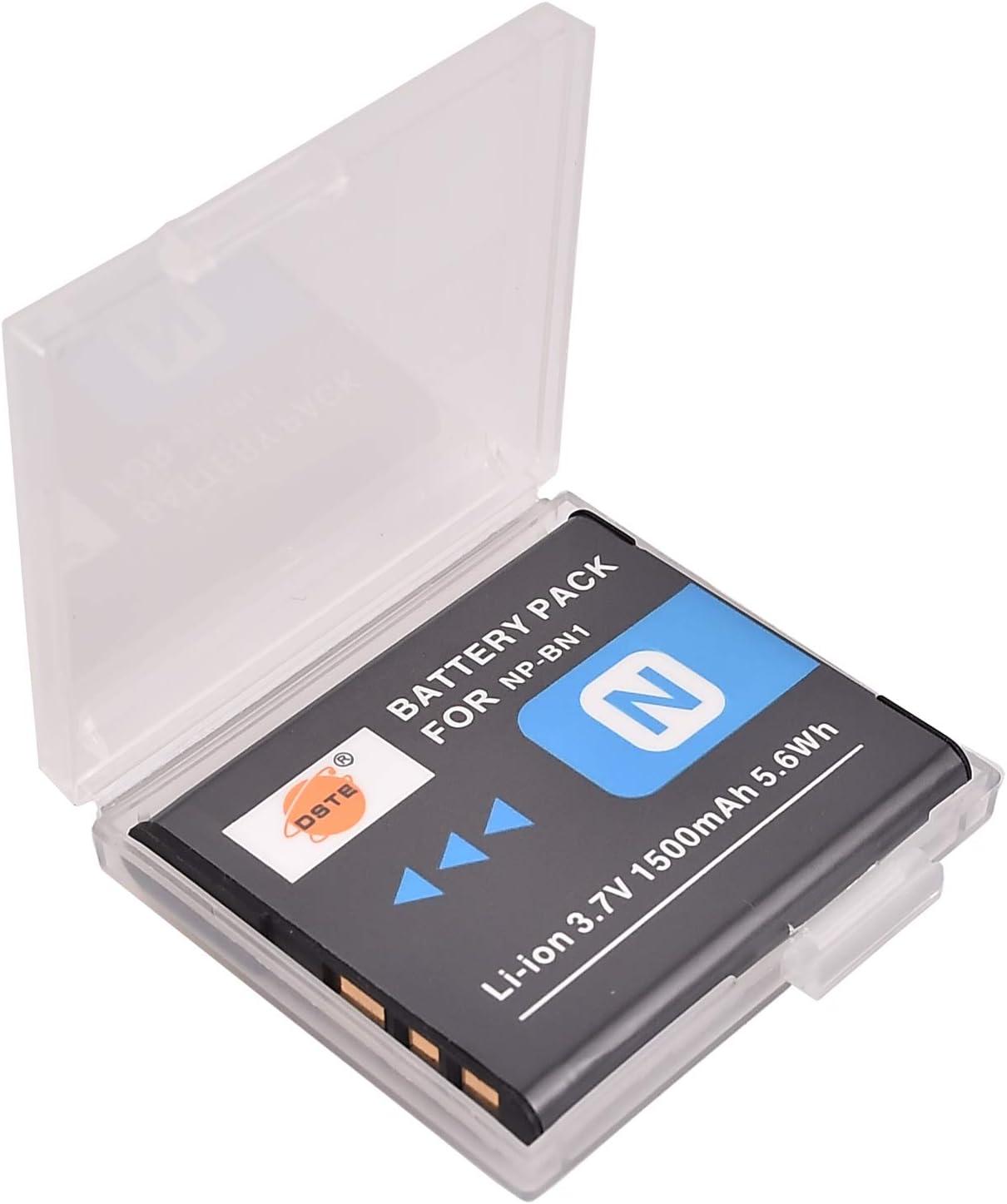 DSTE® 2x NP-BN1 Li-ion Batería para Sony Cyber-shot DSC-W510, DSC-W515PS, DSC-W500, DSC-W520, DSC-W530, DSC-W550, DSC-W560, DSC-W570, DSC-W580, DSC-W610, DSC-W620, DSC-W650, DSC-W690, DSC-W710, DSC-W730, DSC-W810, DSC-W830, DSC-WX5, DSC-WX7, DSC-WX9 ...
