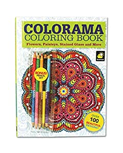 Colorama coloring book for adults with 12 Coloring book for adults amazon