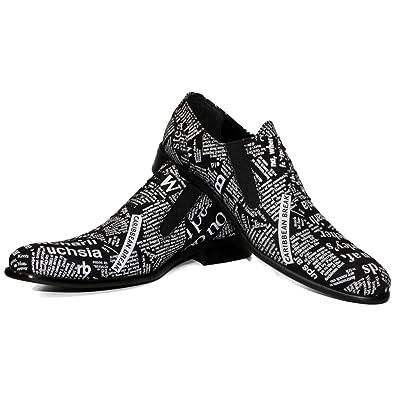 Modello Matrix - Cuero Italiano Hecho A Mano Hombre Piel Negro Mocasines y Slip-Ons Loafers - Cuero Cuero Suave - Ponerse: Amazon.es: Zapatos y complementos