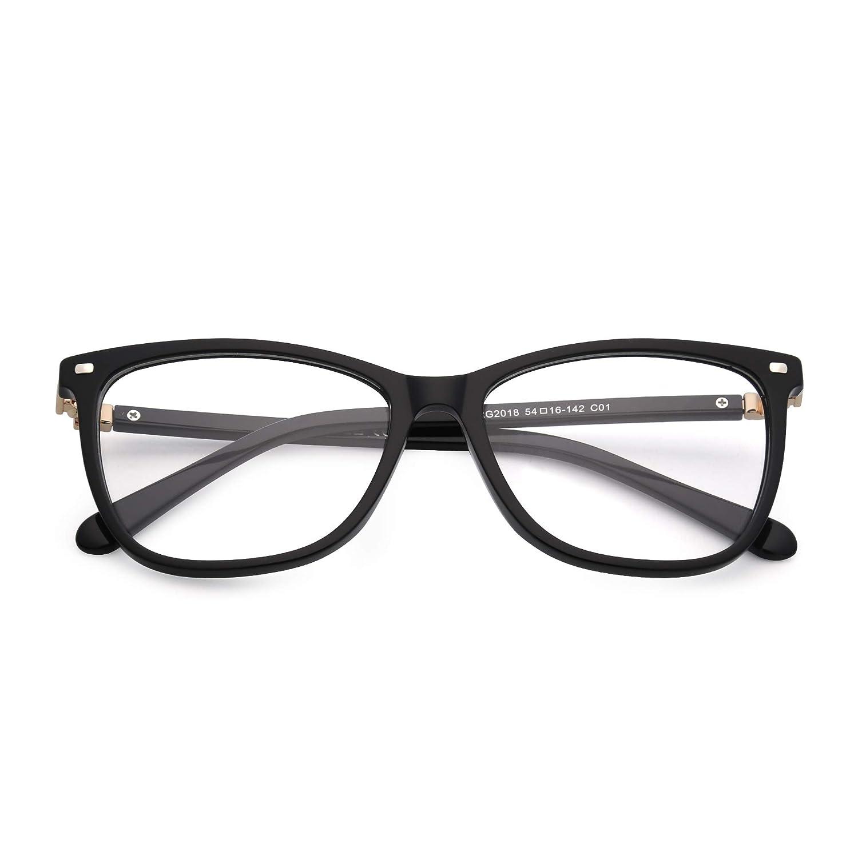 JIM HALO Square Non-Prescription Glasses Clear Lens Eyeglasses Women Men
