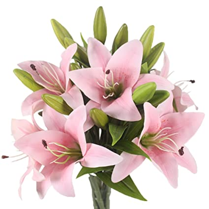 Latex rubber lilies