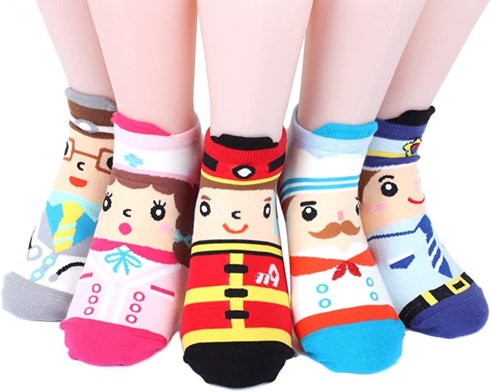 Womens Socks 5 pairs (5 color)=1 pack Made in Korea (Doctor, Nurse, Firefighter, Chef, Policeman): Amazon.es: Ropa y accesorios