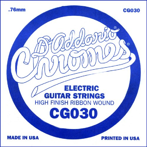 Flatwound Single - D'Addario CG030 Flat Wound Electric Guitar Single String, .030