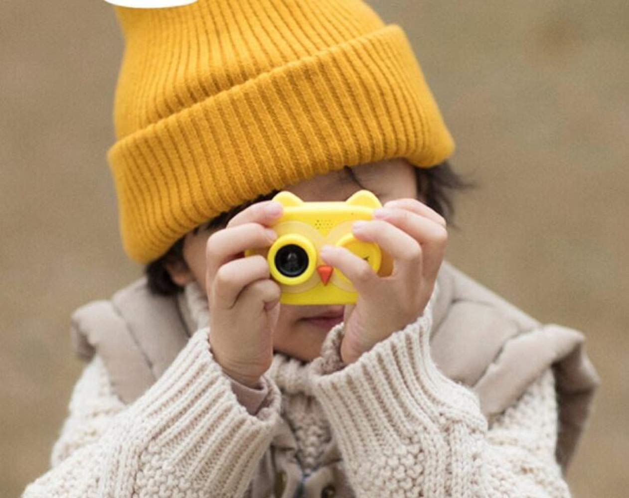 ISHOWStore Mini WiFi Camera for Children HD 8MP External SD Card Digital Video Shakeproof Camcorder for Children with Free 16G Memory Card 82x58x31mm (Yellow Owl) by ISHOWStore (Image #5)