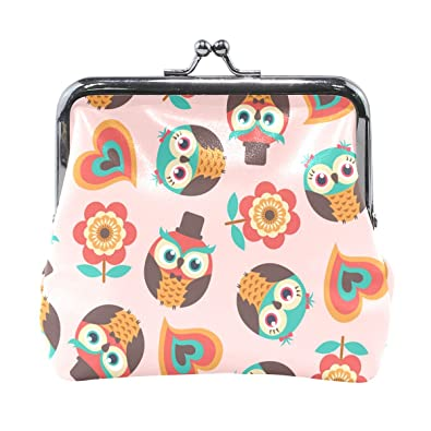 Amazon.com: Dragon Sword Cartoon Owls Monedero de cambio ...