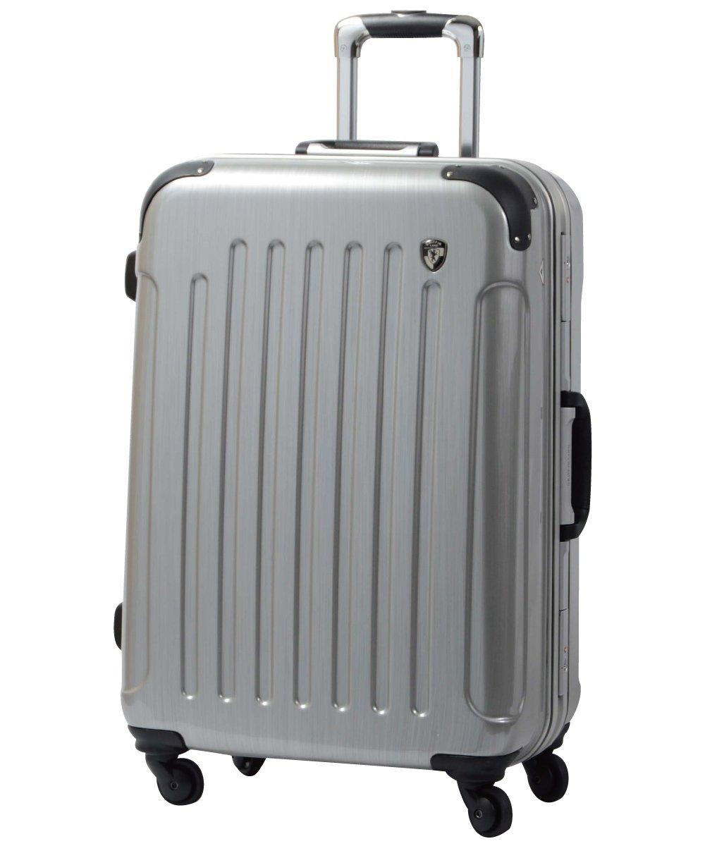 [グリフィンランド]_Griffinland TSAロック搭載 スーツケース 軽量 アルミフレーム ミラー加工 newPC7000 フレーム開閉式 B00HH1H5J4 MS型|スクラッチシャンパン スクラッチシャンパン MS型