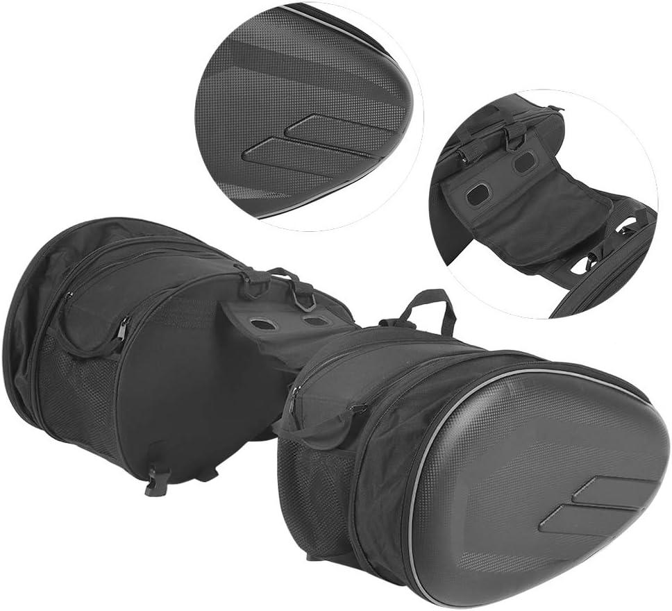 2 pi/èces sacoches de Moto Sacoche de Queue de Rangement de Bagages /étanche 36L-58L Extensible EBTOOLS Sacs lat/éraux de Moto imperm/éables