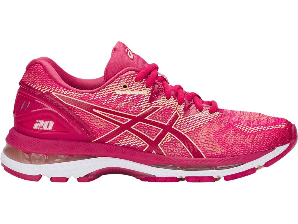 ASICS Women's Gel-Nimbus 20 Running Shoes, 5M, Bright Rose/Rose/Apricot