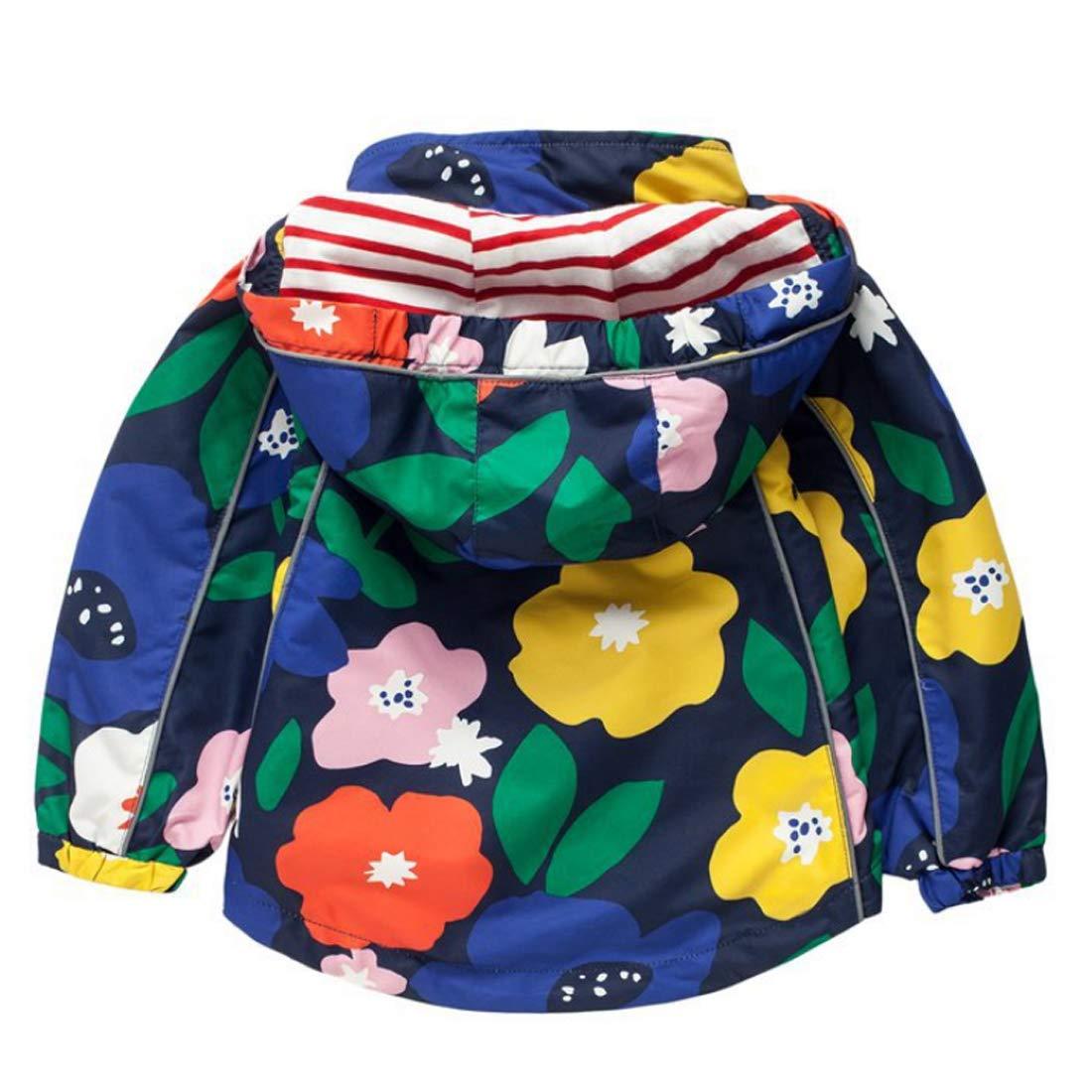 Fulision 2-8 Years Rainproof Jacket Kids Raincoat Rainbow Waterproof Jacket