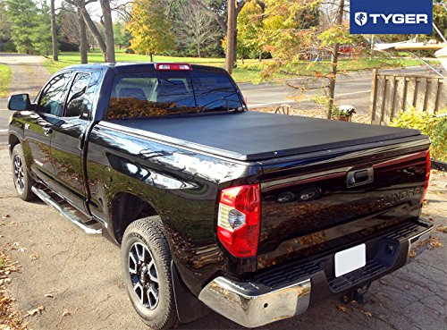 amazoncom tyger auto tgbc3t1433 trifold truck bed tonneau cover toyota tundra fleetside 65u0027 bed for models with or without the deckrail