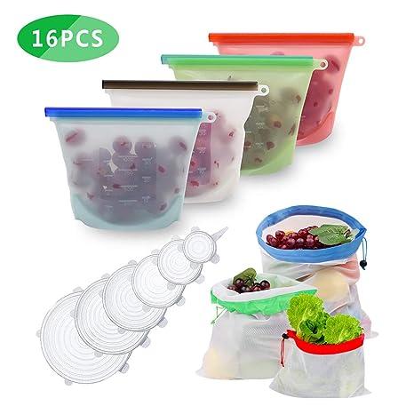 Anbaituor - Bolsas de silicona reutilizables para ...