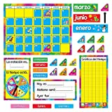 Here's a great Spanish calendar for classroom, home, and office. Perfect for teaching days of the week, months, holidays, counting, and time concepts along with recording the weather and important happenings.
