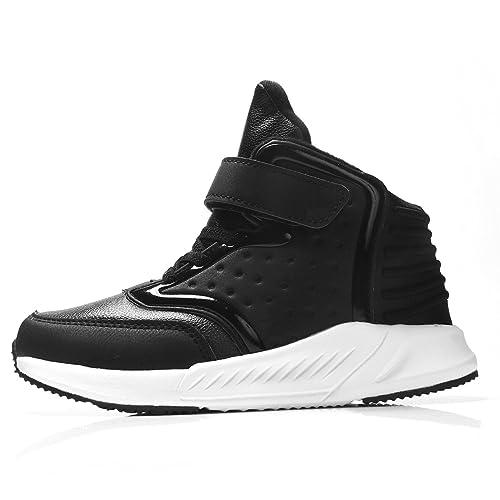 Leaproo Zapatos Para Niños y Niñas Chica Botas Casual Cuero Chicos Zapatillas De Baloncesto Sneaker: Amazon.es: Zapatos y complementos