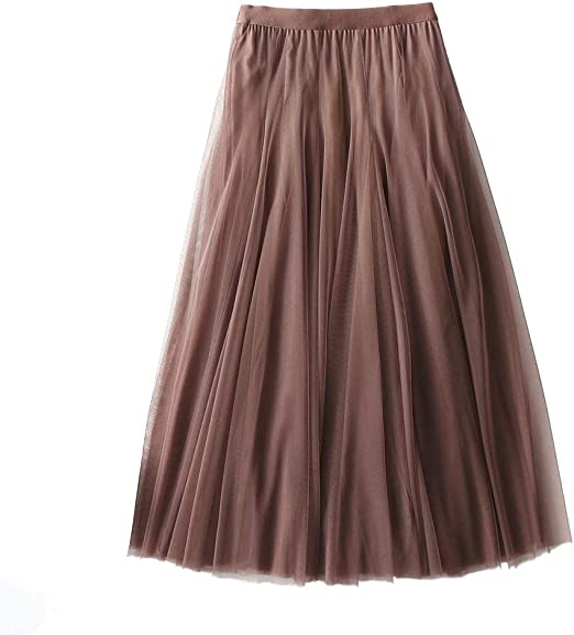Larga Falda de Tul, de múltiples Capas elástico de Cintura Alta ...