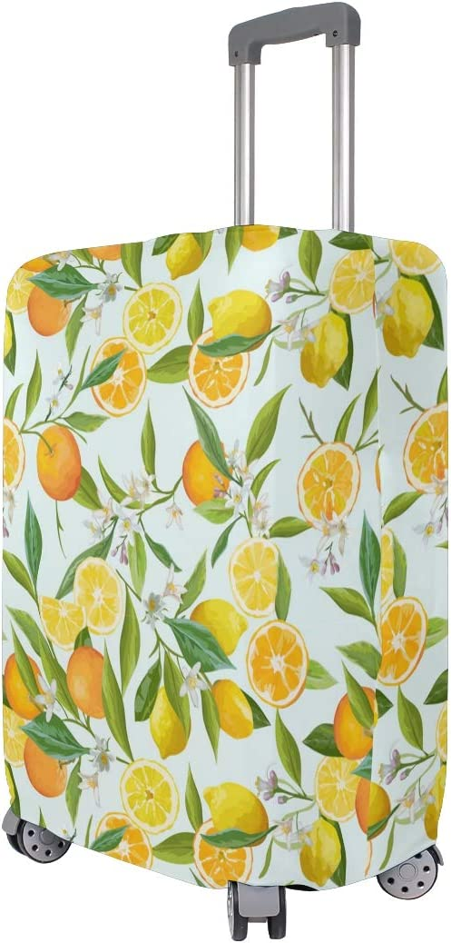 Blooming Yellow Lemon Travel Luggage Protector Case Suitcase Protector For Man/&Woman Fits 18-32 Inch Luggage
