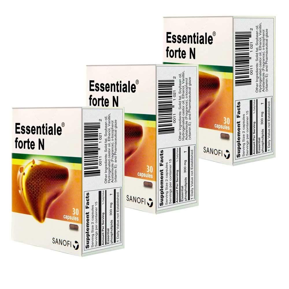 Essentiale Forte N 30 capsules (Packs of 3) by Essentiale Forte