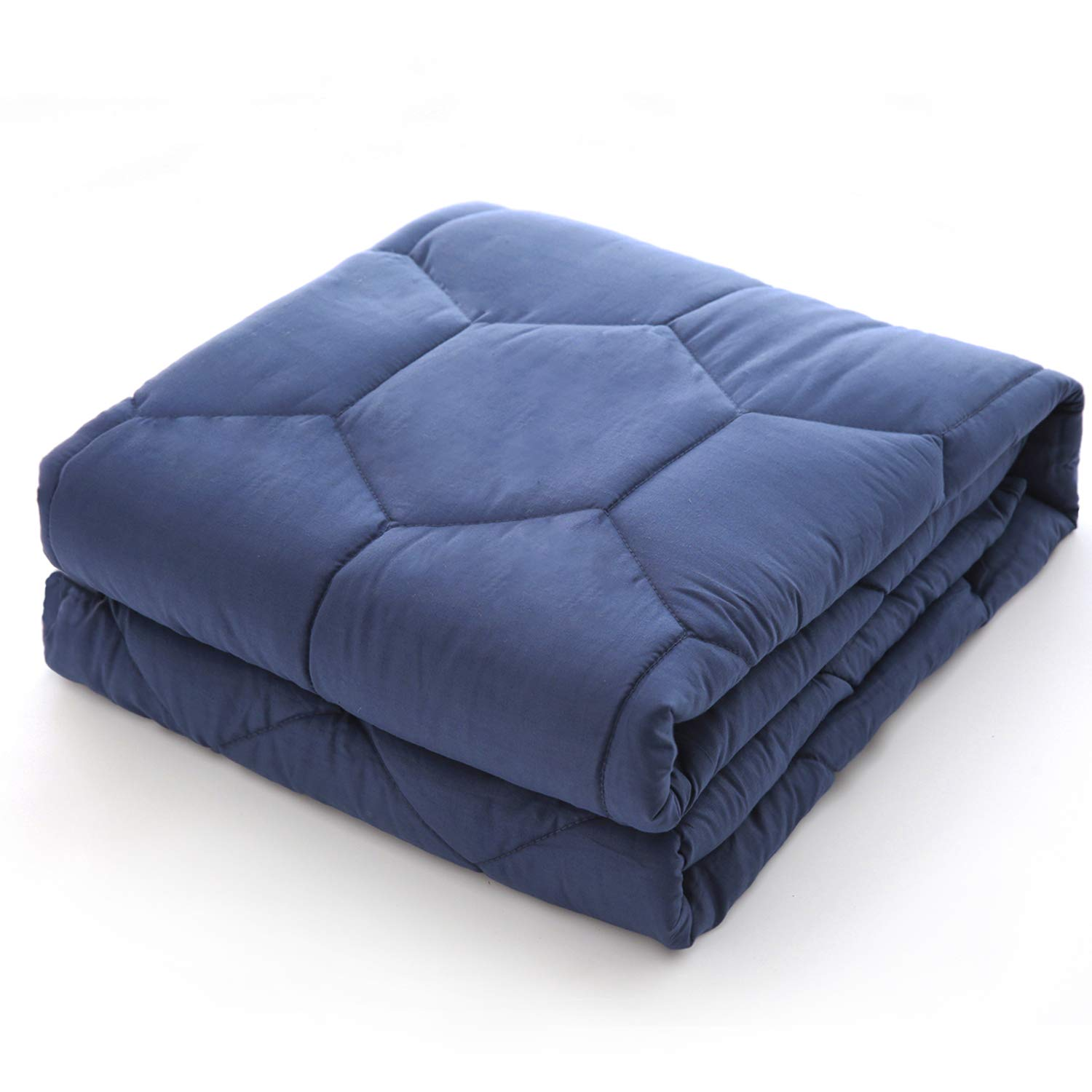 YEMYHOM 100/% Cotton Weighted Blankets Adult 15 lbs 48x72 Bed Couch Heavy Blankets Twin//Full Size Blue Myhom Textile