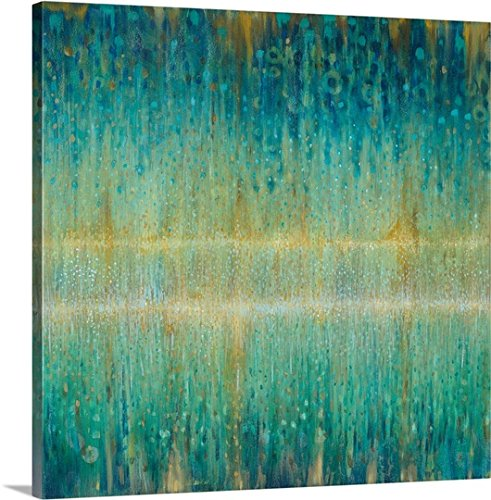 Danhui Nai  blue green Wall Art Rain Abstract