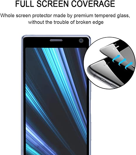Yangmeijuan Mobile Accessory 25 PCS 9H 3D Curved Full Screen Tempered Glass Film for Sony Xperia 10 Plus Cell Phone Replacement Parts
