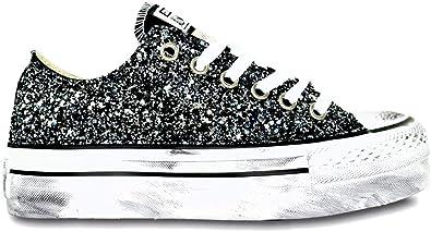 Converse All Star Platform Glitter Nero Ox Vintage [Tutte Le
