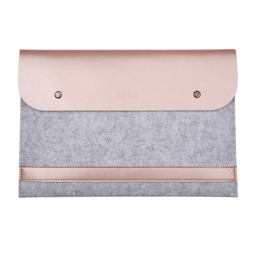 ELEOPTION Macbook Case Laptop Sleeve Organizer Leather Cover for Apple Macbook Air Macbook Pro Retina 13.3'' Case Business Style Laptop Sleeve