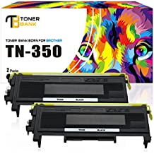 Toner Bank 2 Pack TN350 Compatible for Brother TN 350 Brother HL-2030 2030R 2040 2070N 2070NR 2045 2075N, DCP-7020 7010 7010L 7025, IntelliFax-2820 2825 2850 2910 2920, MFC-7220 7225N 7420 7820