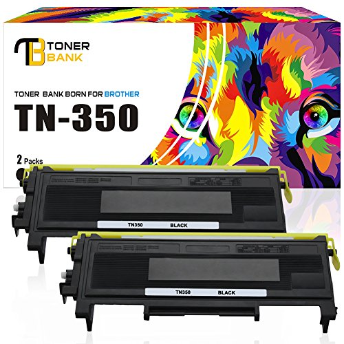 Toner Bank 2 Pack TN350 Compatible for Brother TN 350 Brother HL-2030 2030R 2040 2070N 2070NR 2045 2075N, DCP-7020 7010 7010L 7025, IntelliFax-2820 2825 2850 2910 2920, MFC-7220 7225N 7420 7820 (Mfc 7220 Laser Printer)