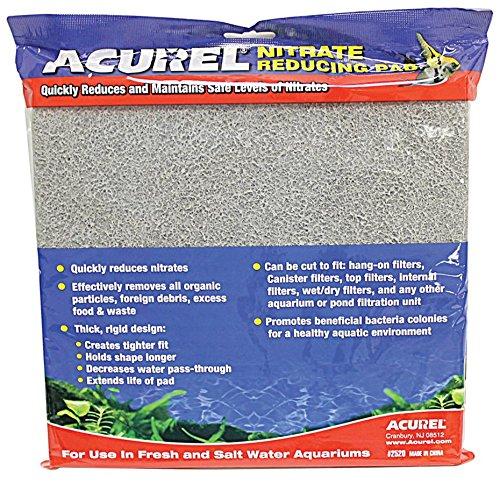Acurel LLC Nitrate Reducing Media Pad Aquarium and Pond Filter Accessory, 10-Inch by (Filter Aquarium Pads)