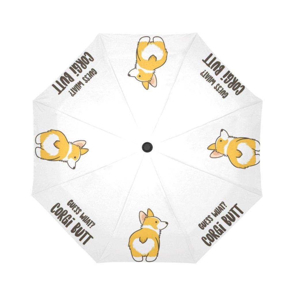 b7daa77402 Artsbaba Guess What Corgi Butt Dog Umbrella Rain Windproof Auto Open Close  Compact Travel Umbrella Folding