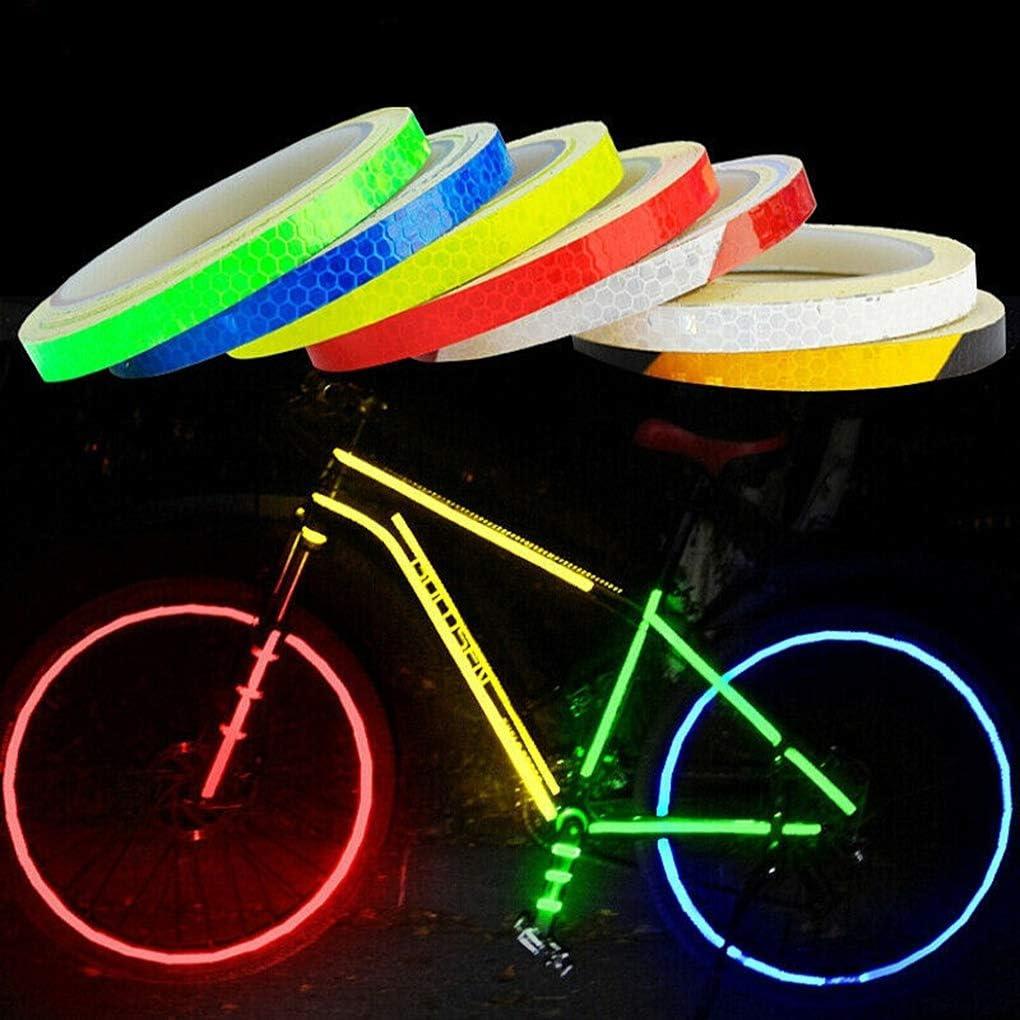 Amarillo VONKY Reflectante Etiqueta Lamer Luminosa Cinta de Advertencia del Marco de la Moto Rueda de la Bici Adhesiva reflectora de Gaza