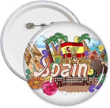 DIYthinker Botón Prado Mariscos España Graffiti pernos redondos Placa Ropa Decoración 5Pcs regalo Multicolor XXL: Amazon.es: Oficina y papelería