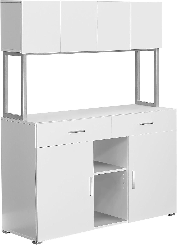 Monarch Specialties White Hollow-Core Office Storage Credenza, 48-Inch