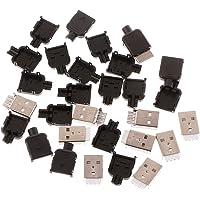 10Sets Type A USB 4 Pin Male Socket