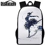 Dispalang Ballet Girl Backpack Cute Bookbag for Children Art Day Pack for College