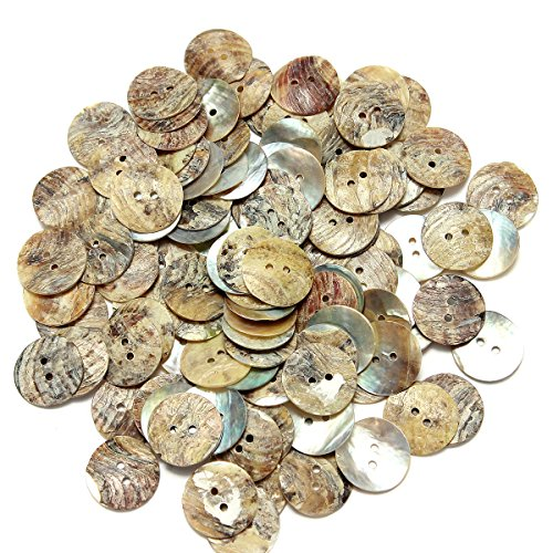 KINGSO 100Pcs Sewing Neutrals Buttons