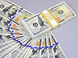 PROP MONEY Real Looking Copy NEW STYLE $100s FULL PRINT Stack - Total $10,000 for Movie, TV, Videos, Advertising & Novelty