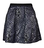 French Connection Women's Sparkle Ray Flared Skirt, Silver/Multi, 8 US