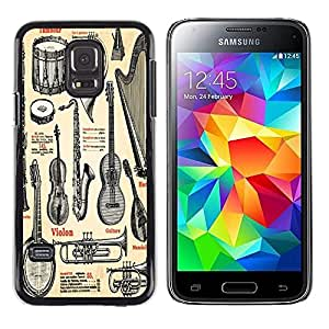 Dragon Case - FOR Samsung Galaxy S5 Mini, SM-G800 - appeal of Musical Instruments - Caja protectora de pl??stico duro de la cubierta Dise?¡Ào Slim Fit