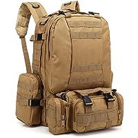 EUATEO Bolsa al Aire Libre, Bolsa de Desierto, tácticas Militares, Mochila, Mochila, Chaleco al Aire Libre, Camping, Bolsa de Camping, Capacidad 55L.