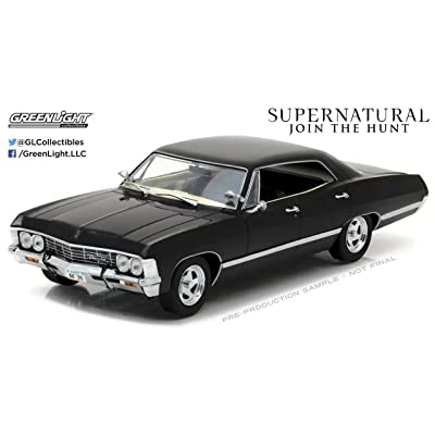 NEW 1:24 GREENLIGHT COLLECTIBLES - SUPERNATURAL - BLACK 1967 CHEVROLET IMPALA SPORT SEDAN Diecast Model Car By Greenlight: Toys & Games