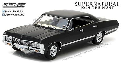 New 1 24 Greenlight Collectibles Supernatural Black 1967 Chevrolet Impala Sport Sedan Diecast Model Car By Greenlight