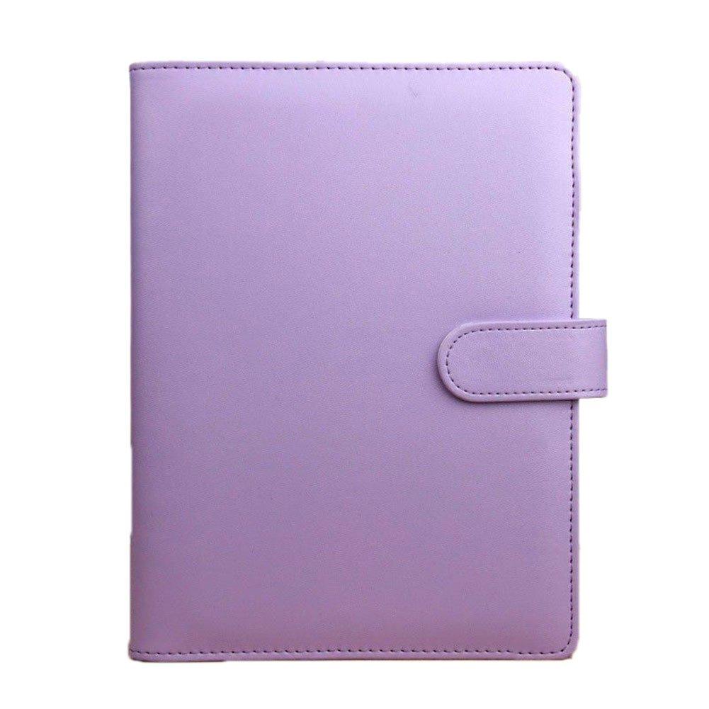 Ferrell A5 Notebook Carpeta de Anillas de Hojas Sueltas Cuadernos de Cuero Macaron Color Agenda Agenda Diario Papelería Suministros de Oficina